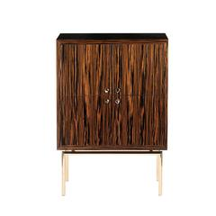 Exquisite Wood and Gold 'Secret 1' Cabinet