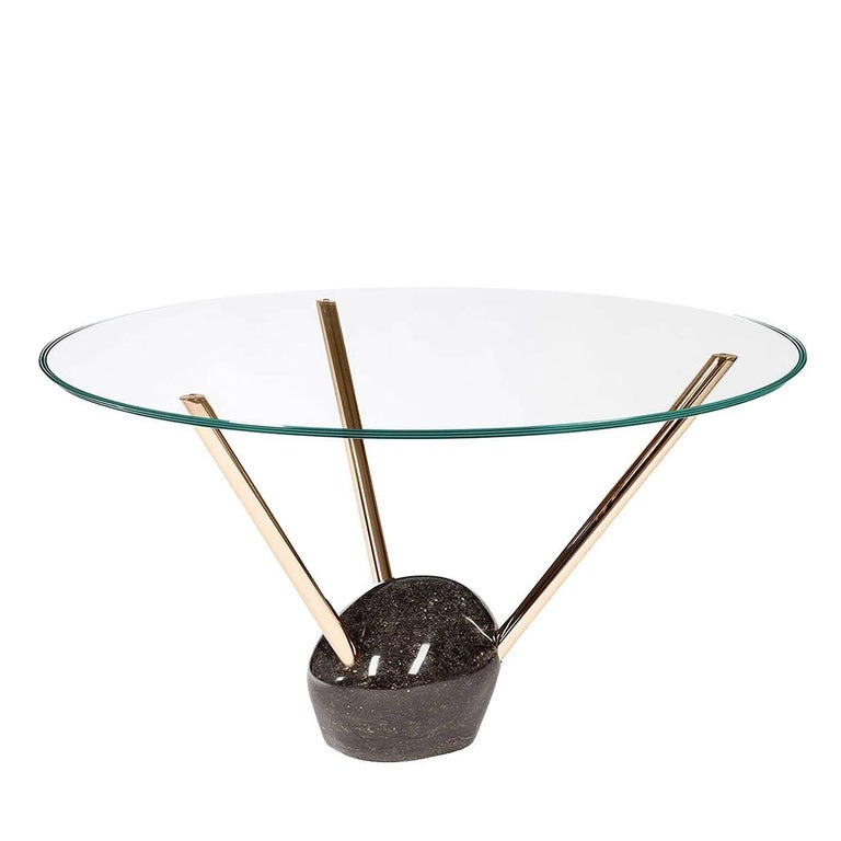 Rays Round Glass Top Dining Table