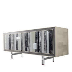 Striking Sideboard in Metal and Wood