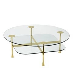 Coffee Table with Transparent Crystal