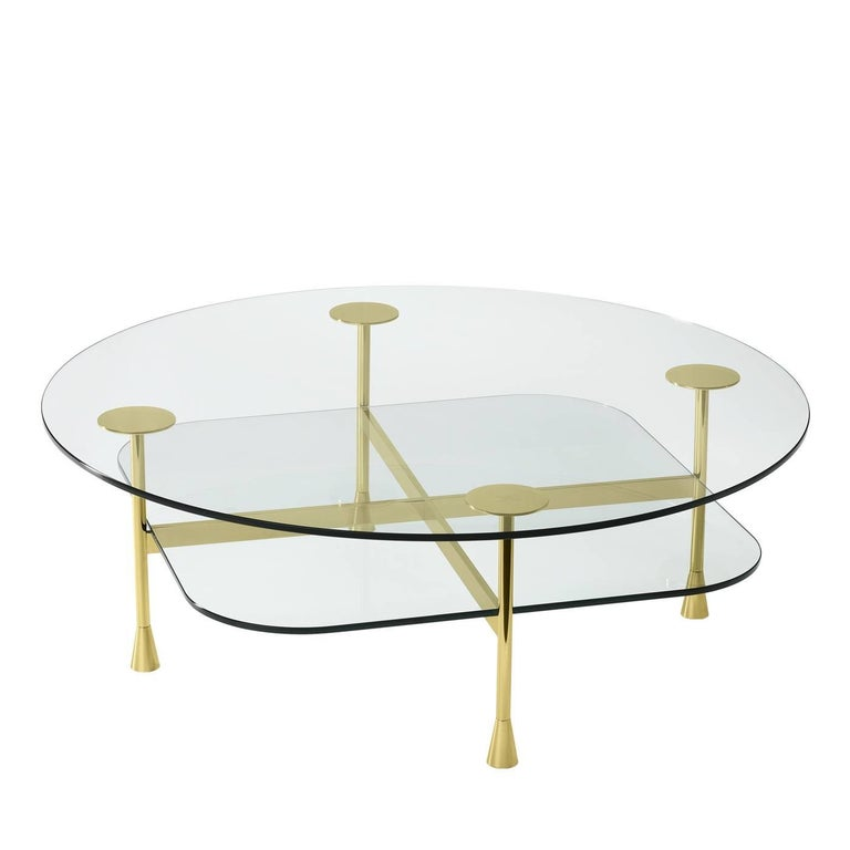 Coffee Table With Transparent Crystal For Sale At 1stdibs
