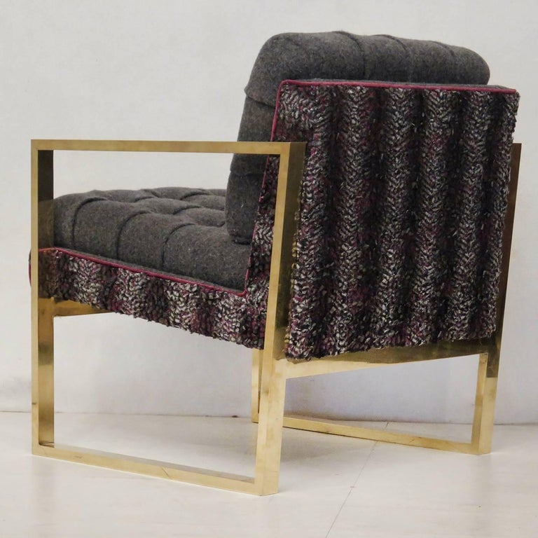 Set of Two Armchairs in Multicolored Fabric In Excellent Condition For Sale In Milan, IT