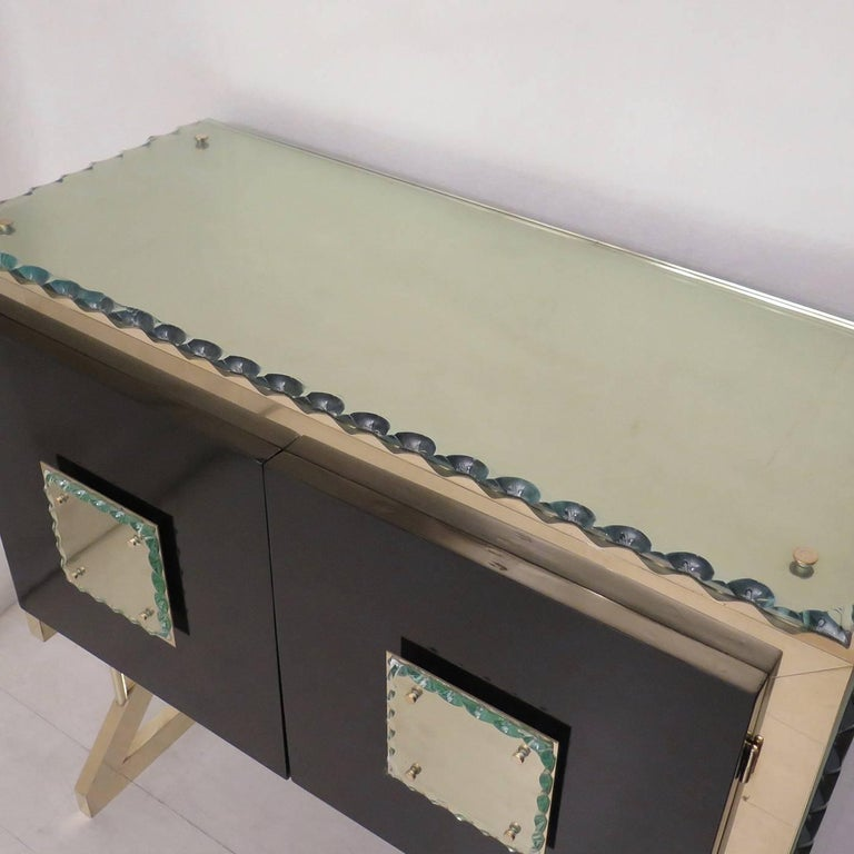 Console in Brass and Glass In New Condition For Sale In Milan, IT