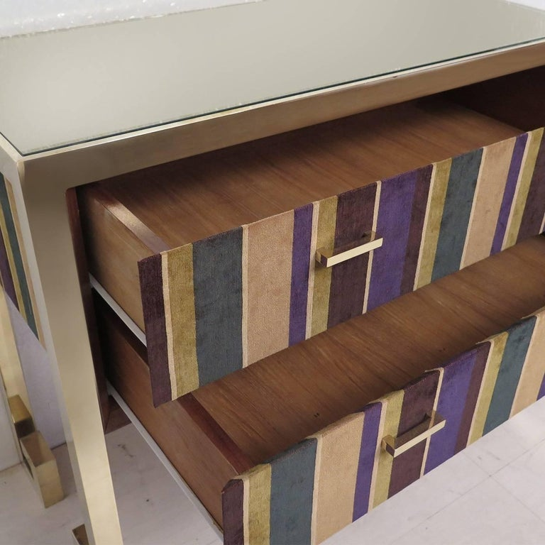 Art Deco Chest of Drawers in Fabric  For Sale