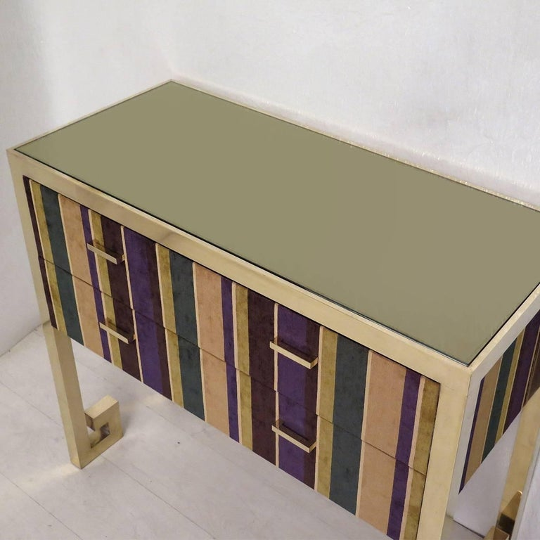 Chest of Drawers in Fabric  In New Condition For Sale In Milan, IT