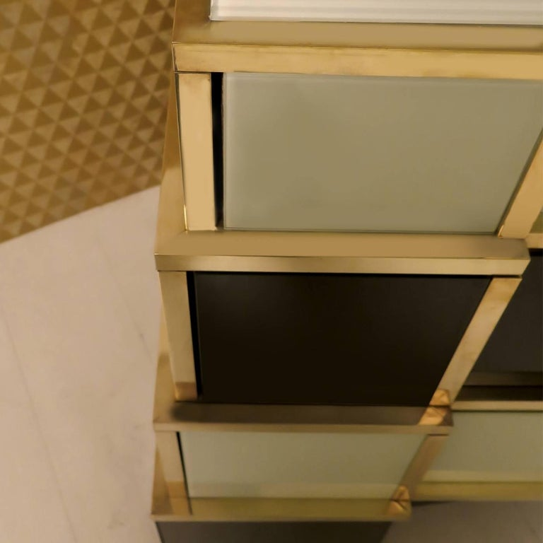 Contemporary Pyramid Chest of Drawers For Sale
