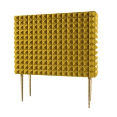 1940 Yellow Lacquered Cabinet by Paolo Buffa