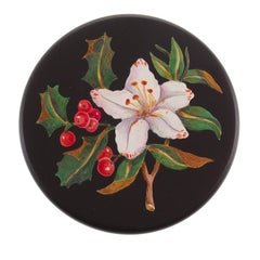 Flower and Holly Marble Box