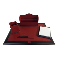 Leather Office Desk Top Set