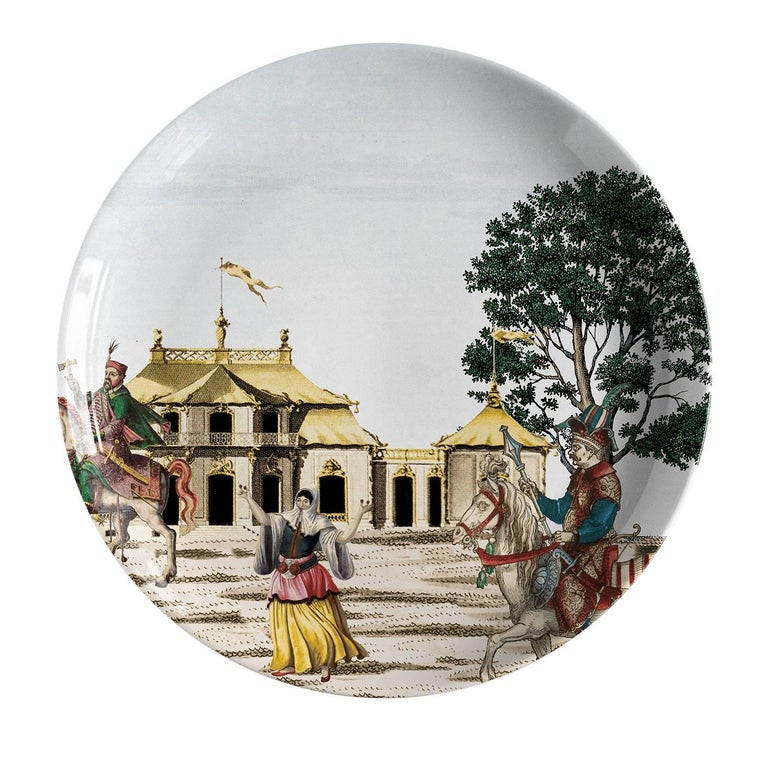 Contemporary Set of 12 Corteo Plates For Sale