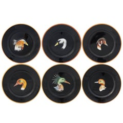 Set of Six Wild Ducks Ceramic Dinner Plates