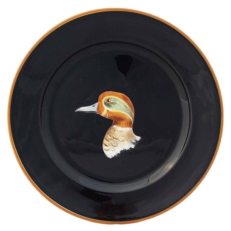 Set of Six Wild Ducks Ceramic Dinner Plates For Sale 1