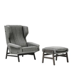 Giulia Grey Accent Chair by Gianfranco Frattini