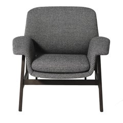 Agnese Grey Armchair by Gianfranco Frattini