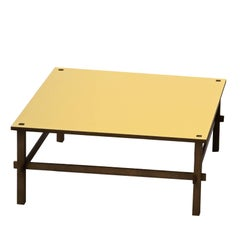 Gio Yellow Coffee Table by Gianfranco Frattini