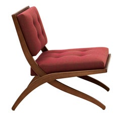 Bianca Red Accent Chair by Franco Albini