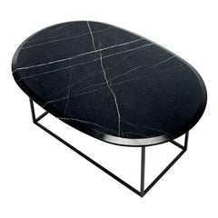 MT Low Coffee Table with New Saint Laurent Marble Top