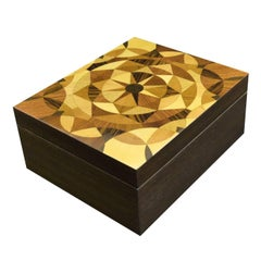 Light Wood Inlay Cigar Box