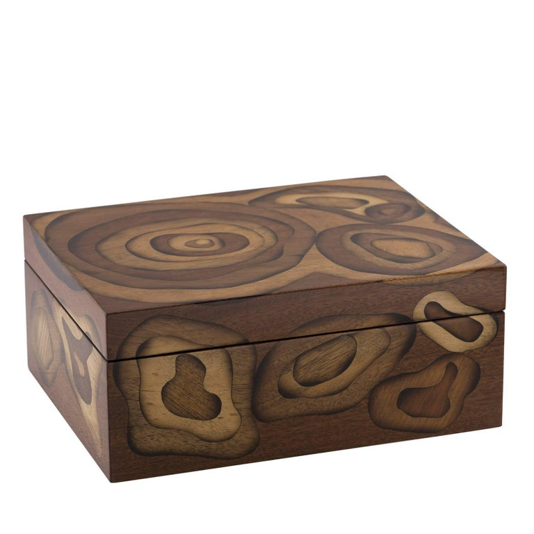 Multicircle Wood Inlay Jewelry Box