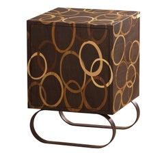 Cubo Wood Inlay Bedside Table