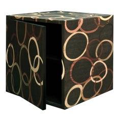 Cubo Wood Inlay Bedside Table II