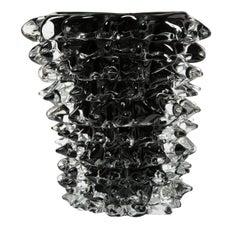 Tall Black Rostro Vase