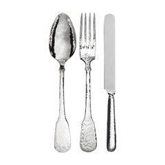 Troiana Sterling Silver Spoon, Fork and Knife Set for Two