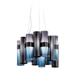 La Lollo M Blue Ceiling Lamp by Lorenza Bozzoli