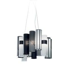 La Lollo M Grey Ceiling Lamp by Lorenza Bozzoli