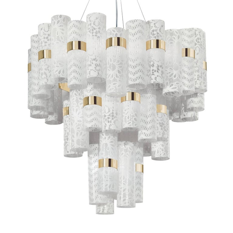 La Lollo Extra large White Ceiling Lamp by Lorenza Bozzoli
