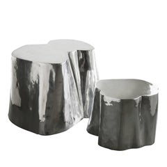 Set of Two Otto High and Low Side Tables