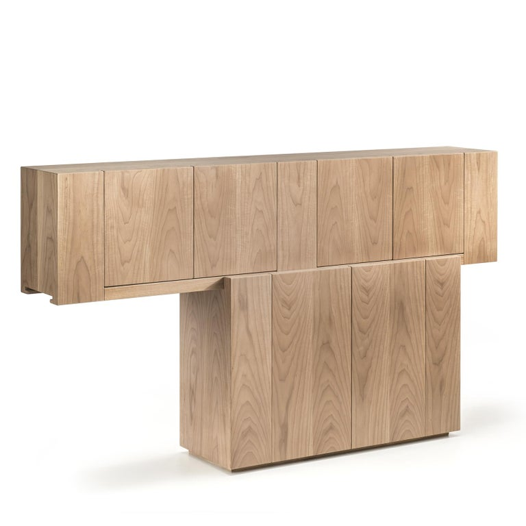 Contemporary Walnut Sideboard For Sale
