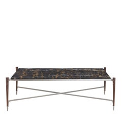 Coffee Table with Black and Gold Marble
