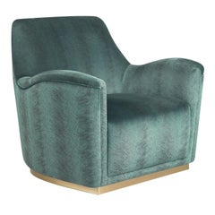 Jacob Azure Armchair