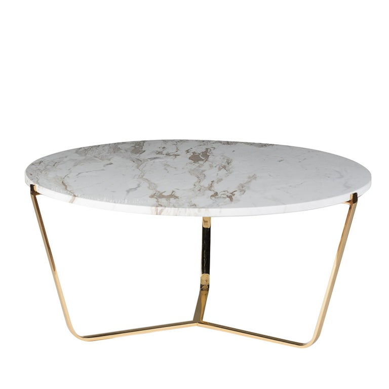 Marble Coffee Table Pros And Cons: Early Saarinen Oval Tulip Coffee Table Calacatta D'Oro