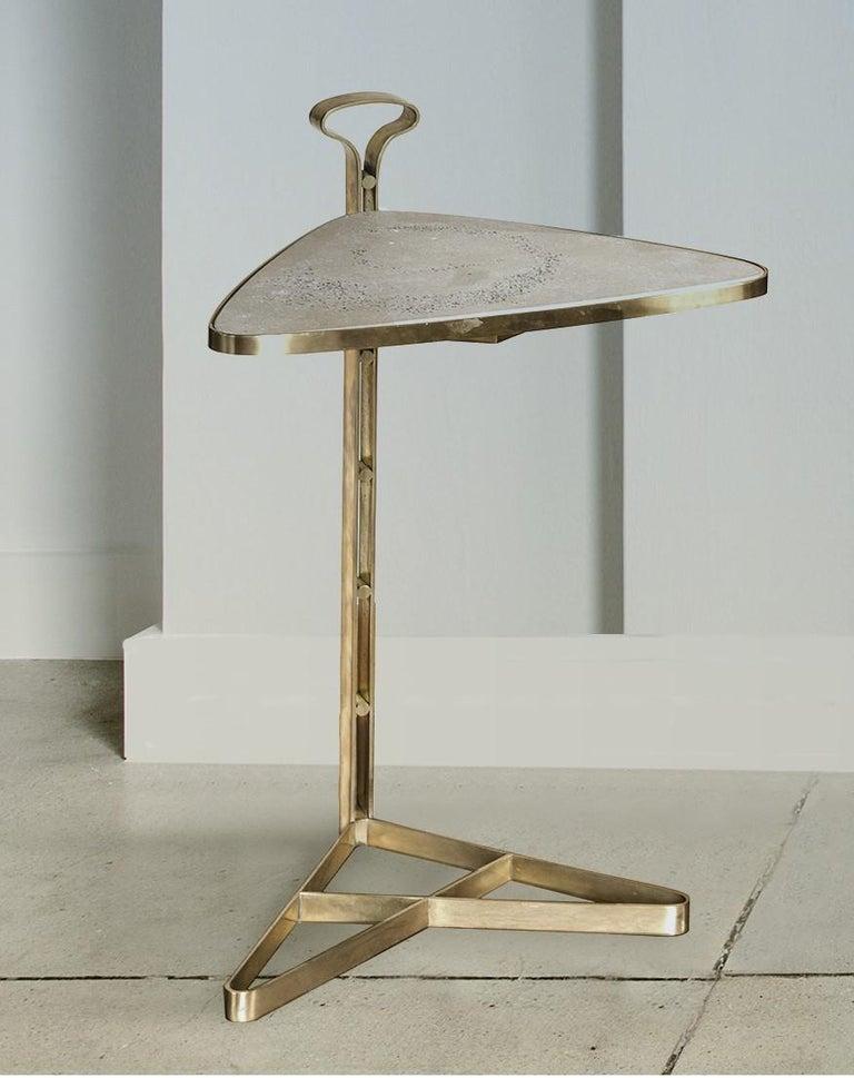 Italian Ubi Triangular End Table For Sale