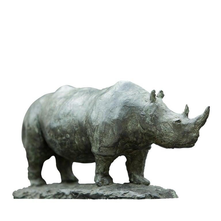 Rhinoceros Bronze Sculpture