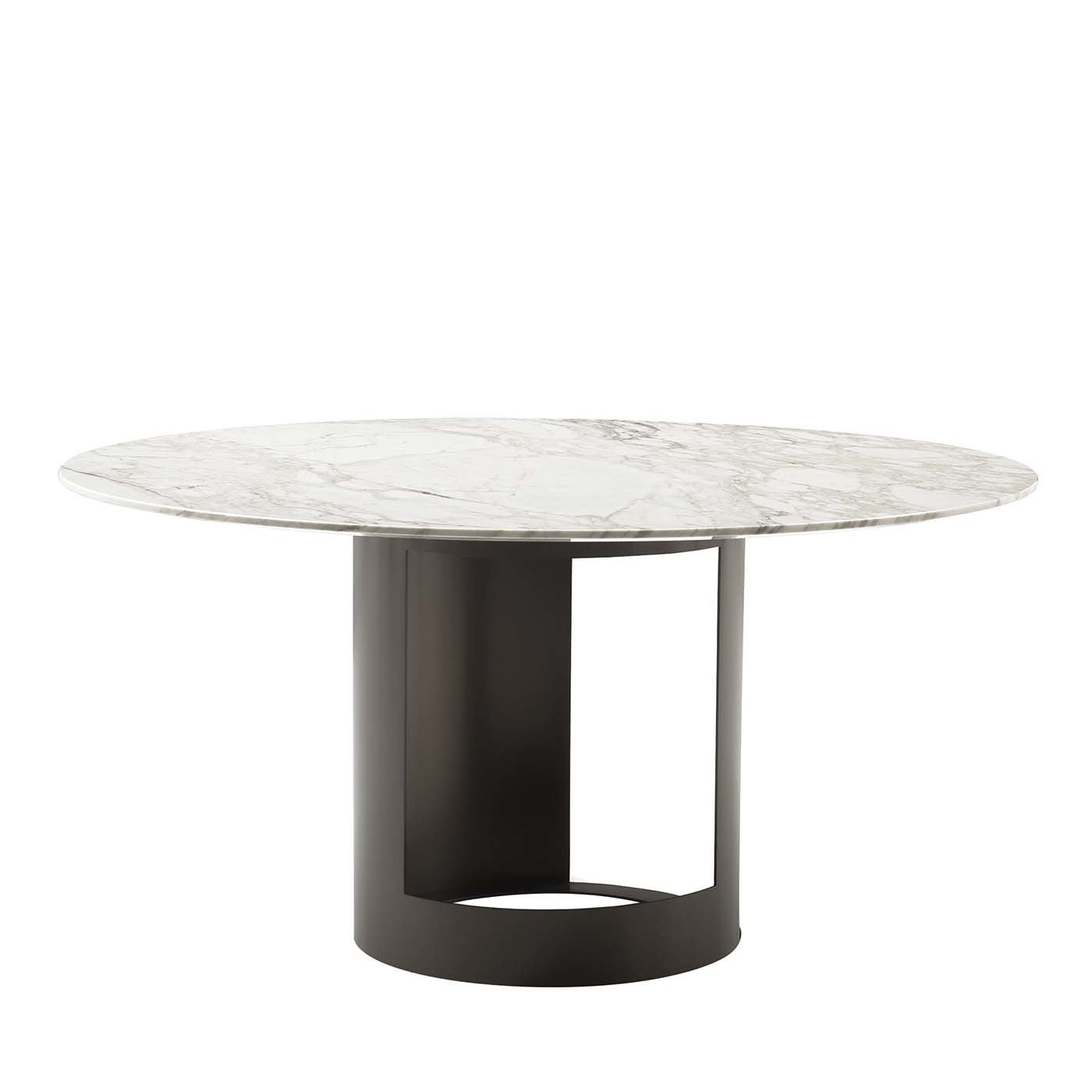 Ci Dining Table in Gold Calacatta Marble