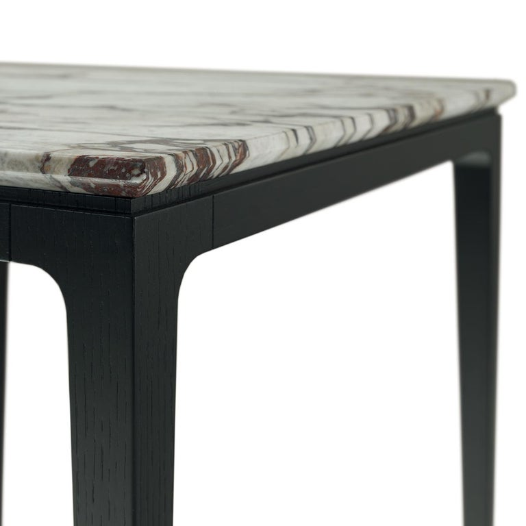 Italian Yang Black Tall Side Table For Sale