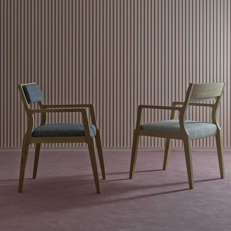 Contemporary Debbie Pale Blue Armchair For Sale