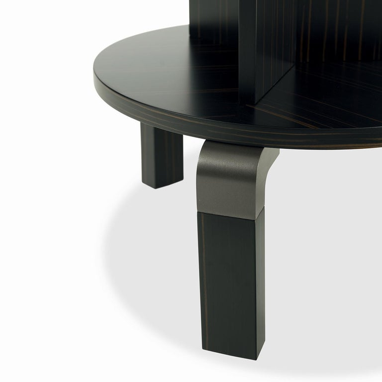 Italian André Ebony Side Table For Sale