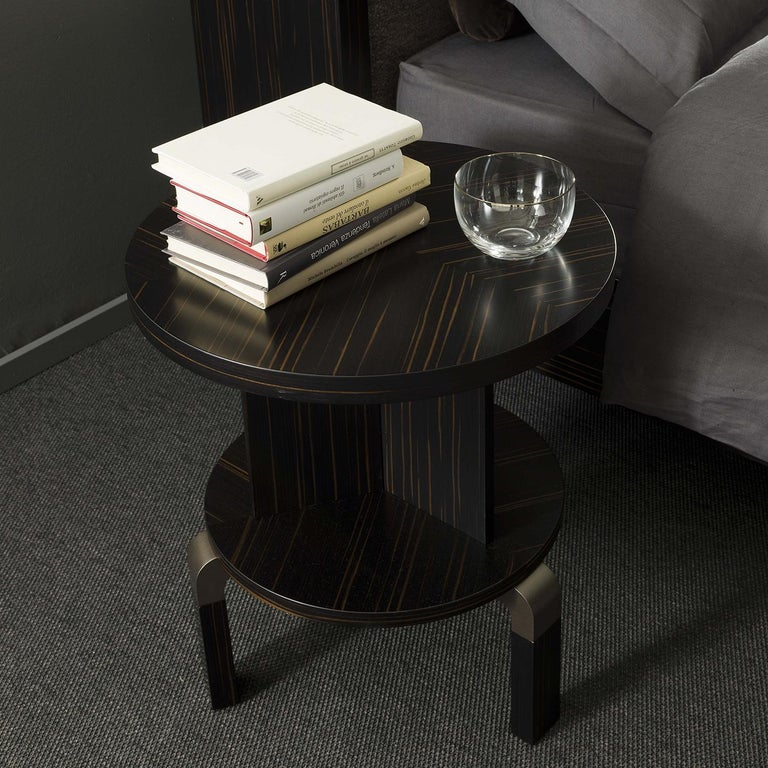 Contemporary André Ebony Side Table For Sale