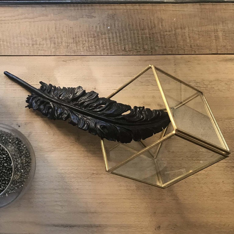 Black Feather Sculpture In New Condition For Sale In Milan, IT