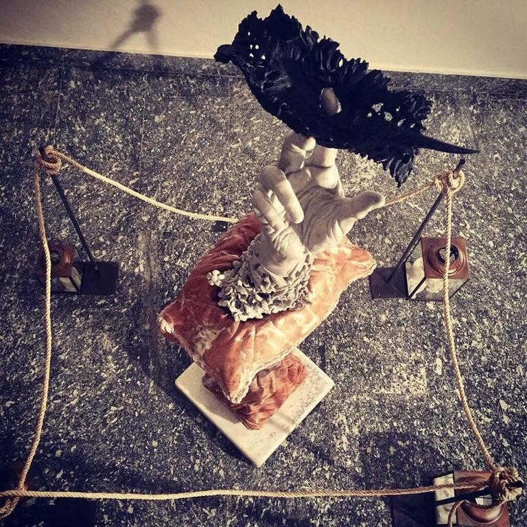 Marble Carpe Diem Sculpture For Sale