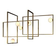 Mondrian Glass Chandelier