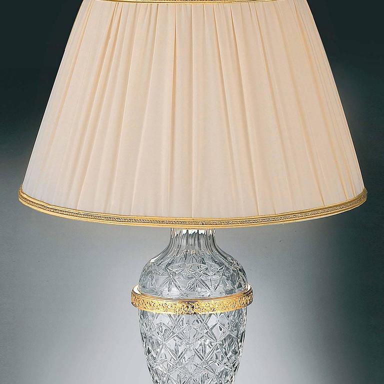 White and Gold Dresser Lamp For Sale at 1stdibs