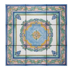 Rosone Ardalea Set of Nine Ceramic Tiles