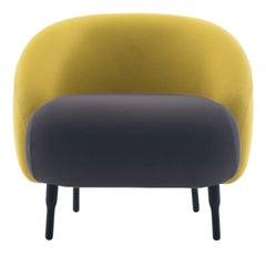 Bump Yellow and Mauve Armchair