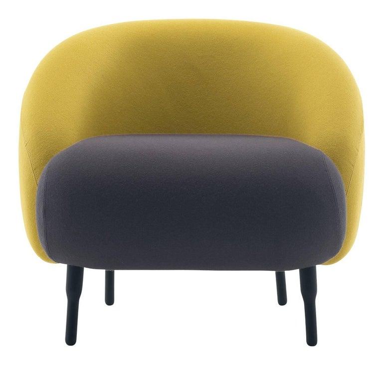 Bump Yellow and Mauve Armchair