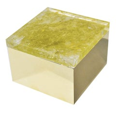 Yellow Quartz Brass Box